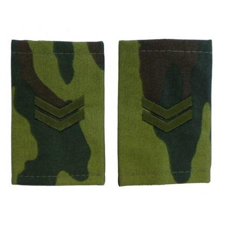 Epaulets for junior sergeant, camouflage - Flora