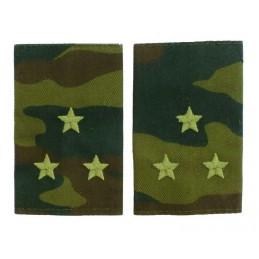 Epaulets for senior leutnant, camouflage - Flora