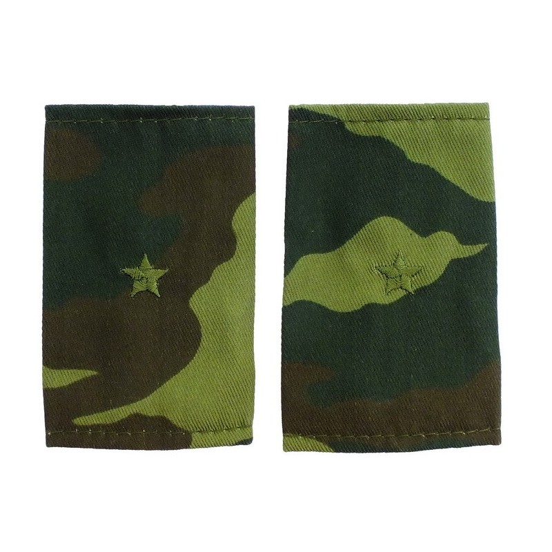 Epaulets for junior lieutenant, camouflage - Flora