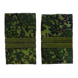 Epaulets for junior sergeant MVD, camouflage - Digital Flora