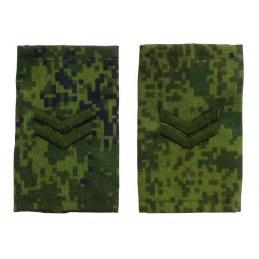 """Epaulets for junior sergeant, camouflage Digital Flora, """"V"""" version"""