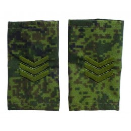 "Epaulets for sergeant, camouflage Digital Flora, ""V"" version"