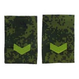 "Epaulets for senior sergeant, camouflage - Digital Flora, ""V"" version"