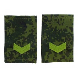 "Epaulets for senior sergeant, camouflage - Digital Flora, ""V"" version"