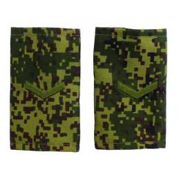 """Epaulets for corporal, camouflage - Digital Flora, """"V"""" version"""