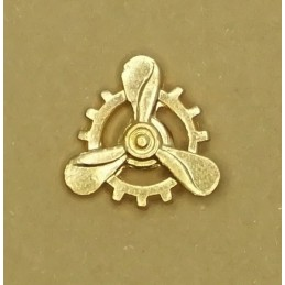 "Navy ""Electromechanics"" tag - gold"