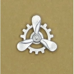 "Navy ""Electromechanics"" tag - silver"