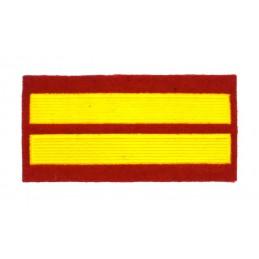 Naszywka dla kursantów uczelni wojskowych - 2 kurs, czerwona