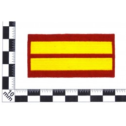 Stripe for participants in a course of military schools - 2 course, red