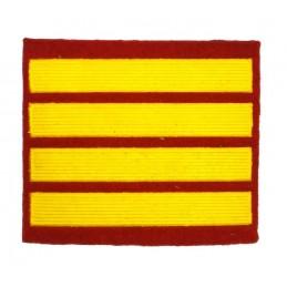 Naszywka dla kursantów uczelni wojskowych - 3 kurs, czerwona
