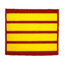 Stripe for participants in a course of military schools - 3 course, red