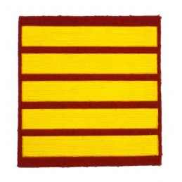 Stripe for participants in a course of military schools - 5 course, red