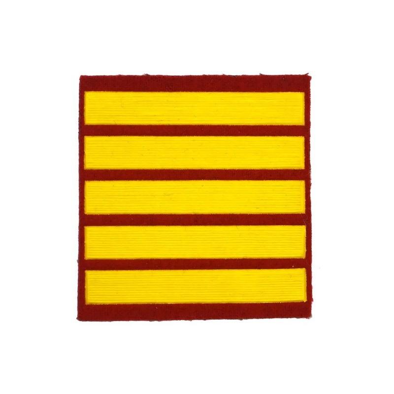 Naszywka dla kursantów uczelni wojskowych - 5 kurs, czerwona