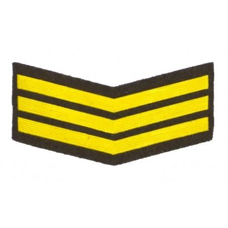 Naszywka dla żołnierzy zawodowych - 3 lata służby, zielona