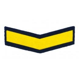 Naszywka dla podoficerów zawodowych - 4 lata służby, zielono-niebieska
