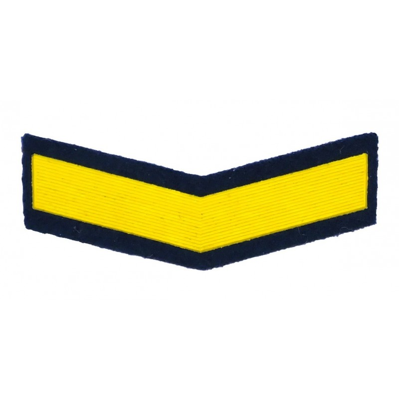 Stripe for warrant officers - 4 years of the service, green-blue