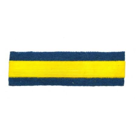 Naszywka dla kursantów uczelni wojskowych - 1 kurs, błękitna