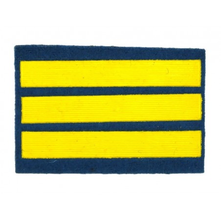 Naszywka dla kursantów uczelni wojskowych - 3 kurs, błękitna
