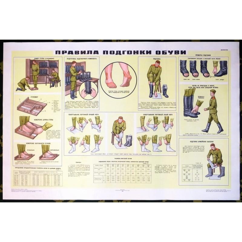 Plakat: Dobór rozmiaru obuwia