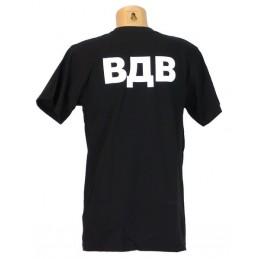"T-shirt ""VDV"", black"
