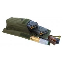 TI-P-2AK-ROPNL Ładownica na 2 magazynki AK, flarę i nóż, lewa, OLIWA
