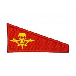 Naszywka na beret WDW - czerwone tło