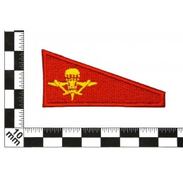 Tab for VDV beret, red background