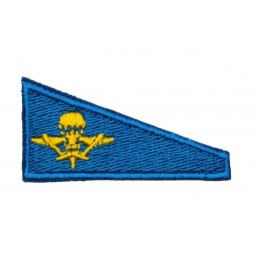 Tab for VDV beret, light blue background