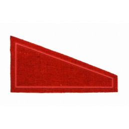 Tab for beret - red background