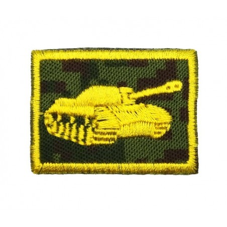 Collar tabs of Tank Forces, on velcro, garrison, Digital Flora background, embroided - right