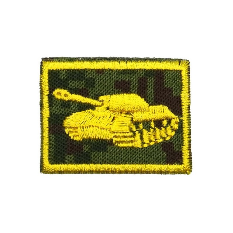 Collar tabs of Tank Forces, on velcro, garrison, Digital Flora background, embroided - left