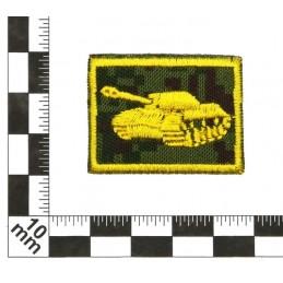 Patki Wojsk Pancernych, na rzepie, wyjściowe, tło Cyfrowa Flora, wyszywane - lewa
