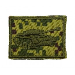 Collar tabs of Tank Forces, on velcro, field, Digital Flora background, embroided - right