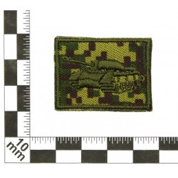 Collar tabs of Tank Forces, on velcro, field, Digital Flora background, embroided - left