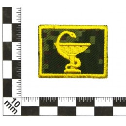 Collar tabs of Medical Service, on velcro, garrison, Digital Flora background, embroided - right