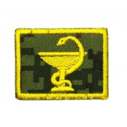 Collar tabs of Medical Service, on velcro, garrison, Digital Flora background, embroided - left