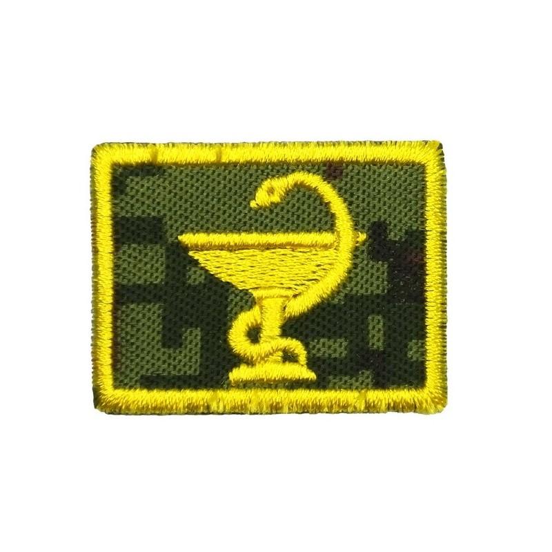 Collar tabs of Medical Service, on velcro, garrison, Digital Flora background, embroided - left