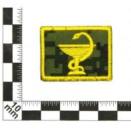 Patki Służby Medycznej, na rzepie, wyjściowe, tło Cyfrowa Flora, wyszywane - lewa