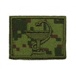 Collar tabs of Medical Service, on velcro, field, Digital Flora background, embroided - left