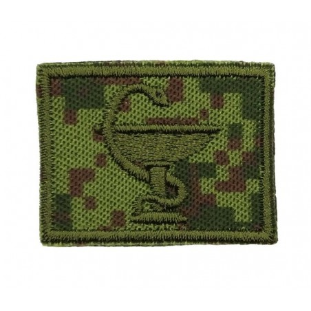 Collar tabs of Medical Service, on velcro, field, Digital Flora background, embroided - right