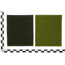 """Naszywka """"Rosja - WWS"""", haftowana, z rzepem, zielone tło, PR300"""