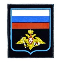 """Naszywka """"Rosja - WDW"""", PVC, z rzepem, granatowe tło, PR300"""