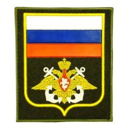 """Naszywka """"Rosja - WMF"""", PVC, z rzepem, oliwkowe tło, PR300"""