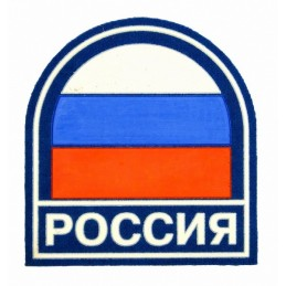 "Stripe ""Russia"", flag on blue background"