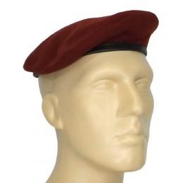 """Small, maroon (krapovy) beret - """"tear"""""""