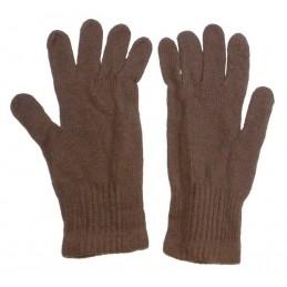 Rękawiczki zimowe, wełniane, brązowe