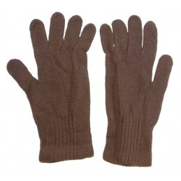Winter gloves, wool, brown