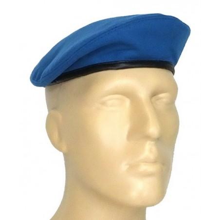 "Beret z sukna, błękitny, ""łezka"""