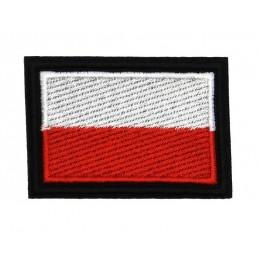 Polska flaga - naszywka termotransferowa