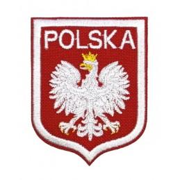 Polska z orłem - naszywka termotransferowa